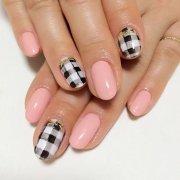 beautiful black nail art