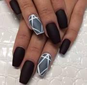 beautiful black matte nail