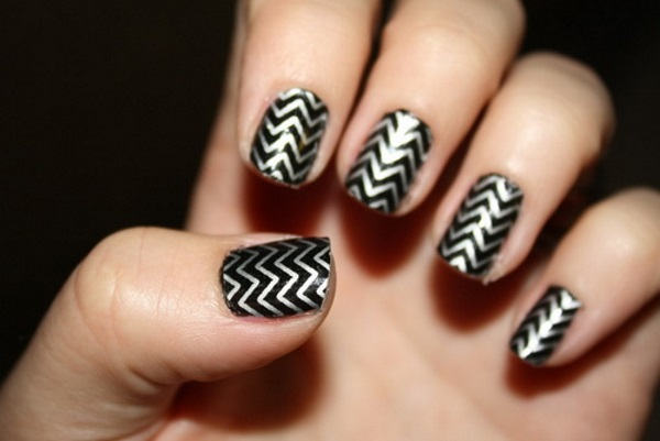 Nail Art Black And Gold Cute Designs