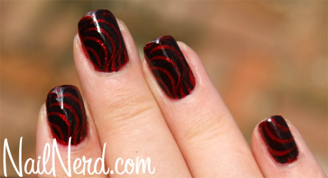 Cool Black And Red Nail Designs Cute