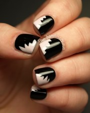 beautiful black matte nail