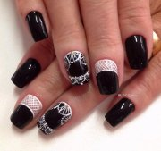 latest black nail art design