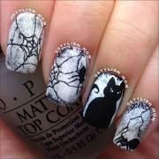 latest halloween nail art design