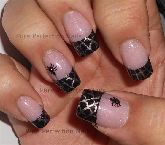 Halloween Nail Art Spider Web