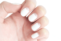 Black And White Reverse French Tip Nail Designs