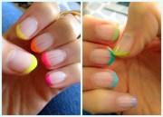 latest neon nail art design