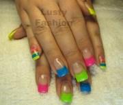 beautiful neon nail art