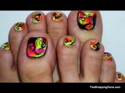 latest neon nail art design