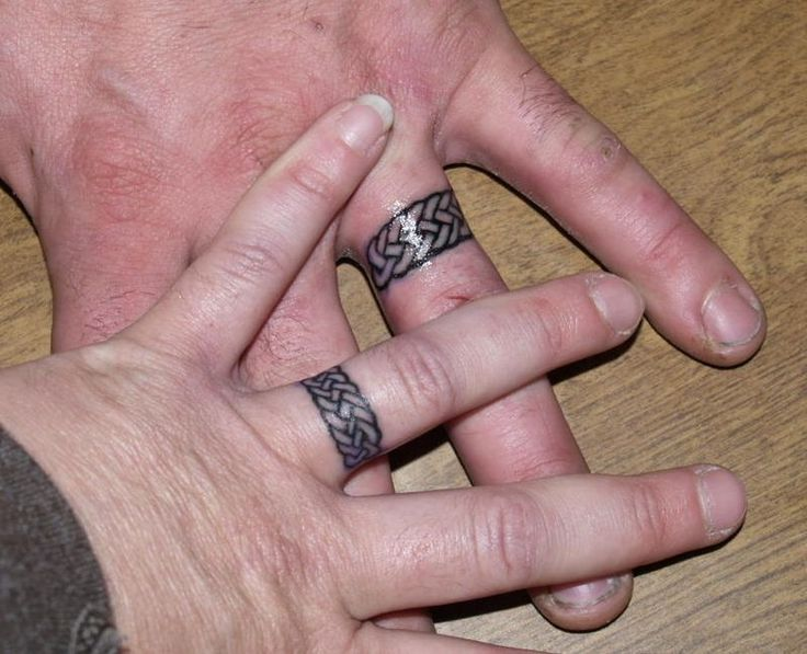 Matching Ring Finger Tattoos For Couples