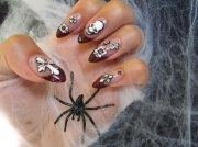 cool halloween nail art design