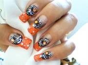 cool halloween nail art design