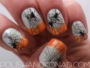 latest halloween nail art design