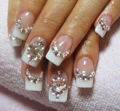 Bridal Wedding Nail Art Designs Ideas 2016