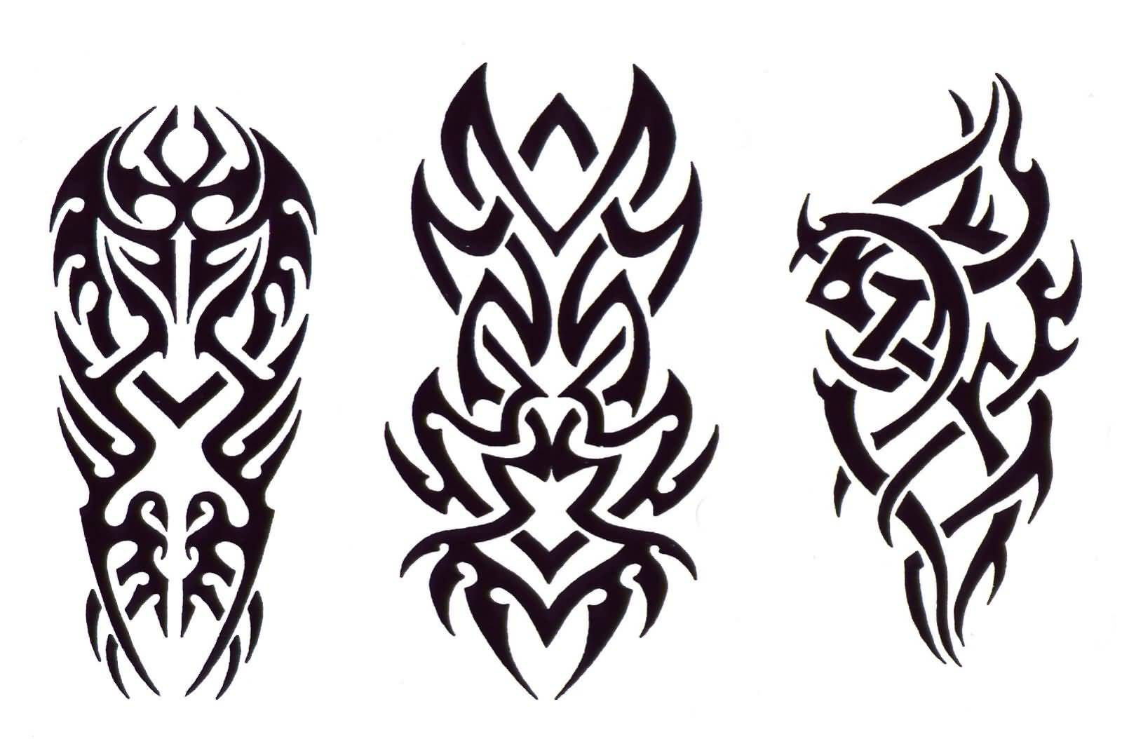 Tribal Design Tattoo Cross