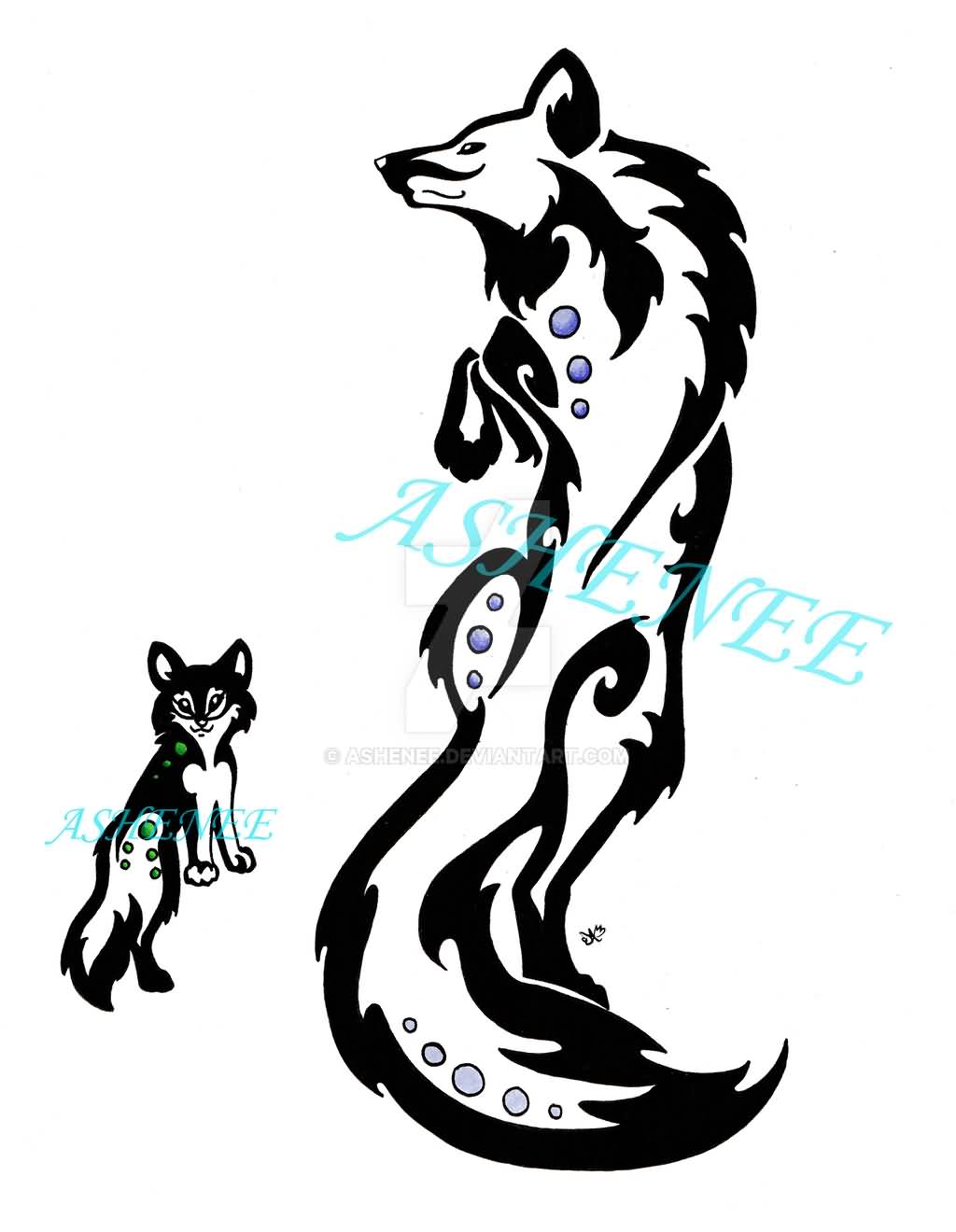 Moon White Wolf Cub