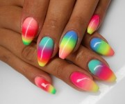 latest multicolor nail art design
