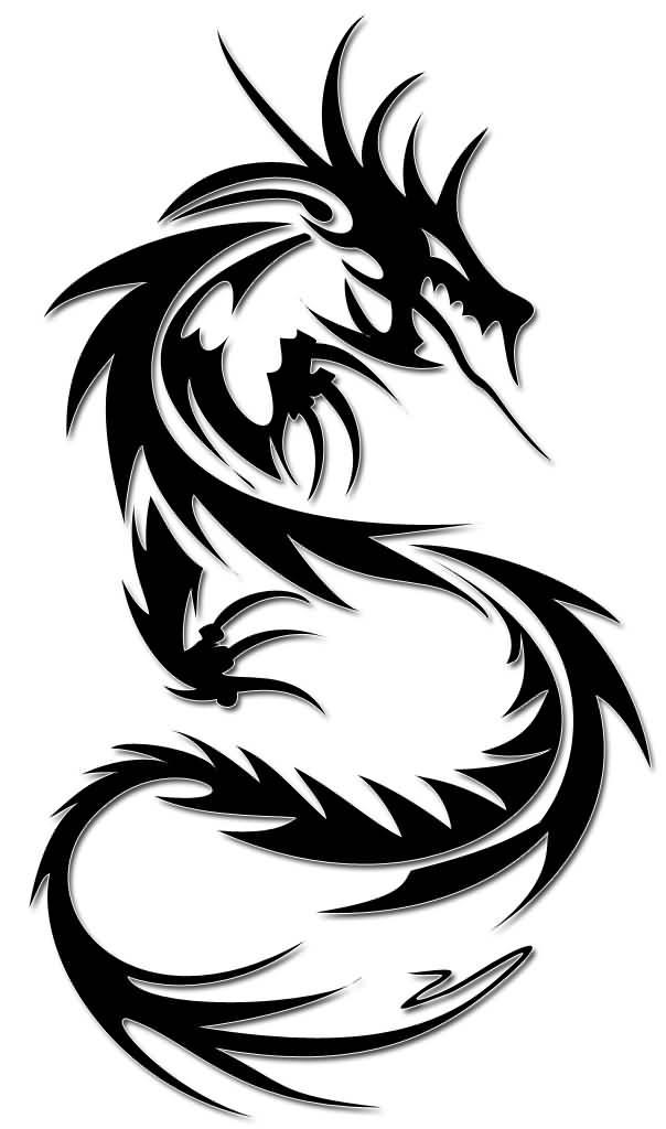 32 simple tribal dragon