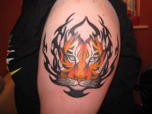 20 Tribal Tiger Shoulder Tattoos Ideas And Designs