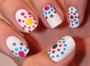 beautiful multicolor nail