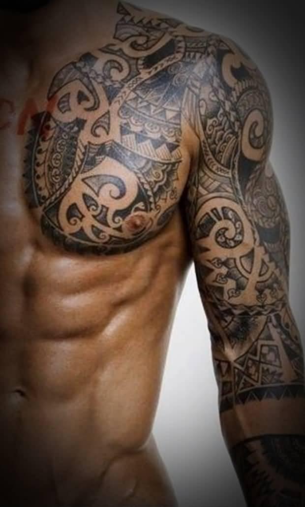 45+ Tribal Chest Tattoos For Men