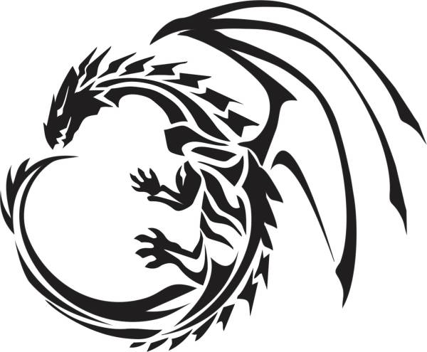 20 Flying Chinese Dragon Tribal Tattoos Ideas And Designs