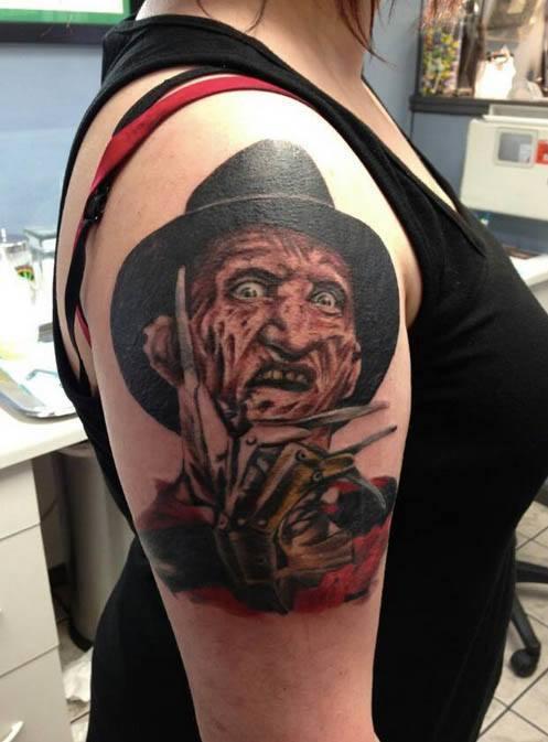 25 3D Freddy Krueger Tattoos