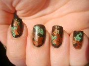 beautiful autumn nail
