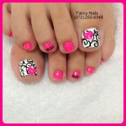 pink toe nail art design ideas