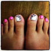 pink toe nail art design ideas