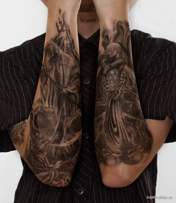 wonderful evil tattoos