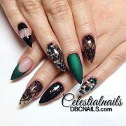 latest stiletto nail art design