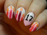 beautiful birthday nail