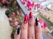 stylish red stiletto nail
