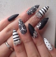 beautiful stiletto nail
