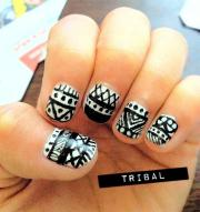 stylish tribal nail art