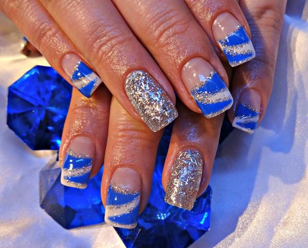 Art Christmas Nail Blue