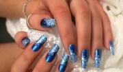 stylish blue nail art