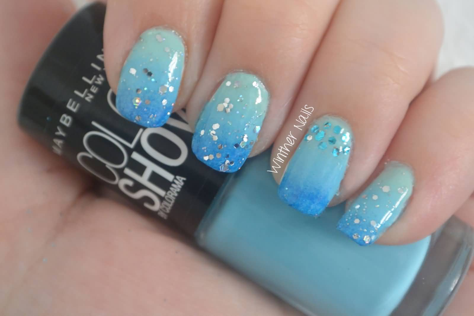 50+ Best Blue Nail Art Design Ideas
