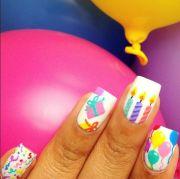 birthday nail art design