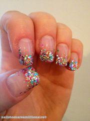amazing glitter french