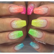beautiful glitter nail