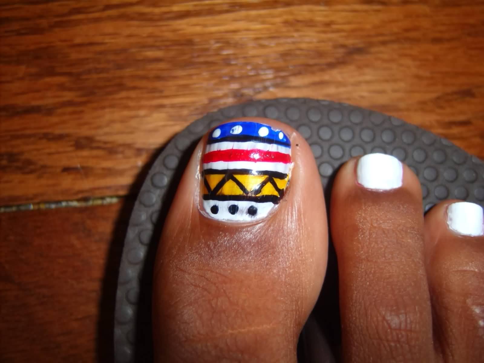 18+ Tribal Nail Art Designs For Toe Nails