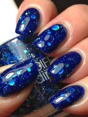beautiful blue nail art