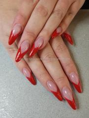 stylish red stiletto nail