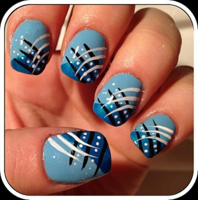 50 Wonderful Blue Nail Art Designs