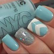 stylish light blue nail