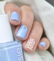 stylish light blue nail