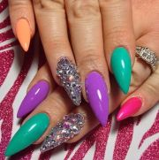 cool stiletto nail art design