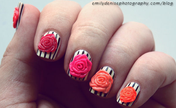Keep Adding Those Petals To Create Three Distinct Flowers Nail Art Tutorial How
