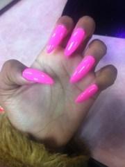 beautiful pink stiletto